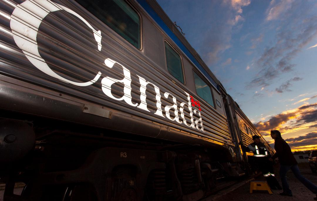 Train in Churchill, Manitoba.